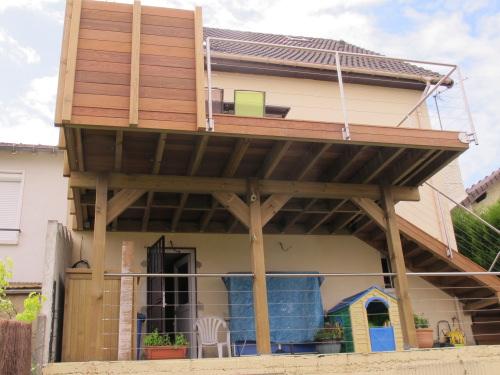 Construction Terrasse En Bois Sur Pilotis Avec Escalier