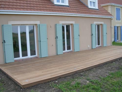 Nivremcom = Terrasse Bois Ras Du Sol ~ Diverses idées de conception de patio