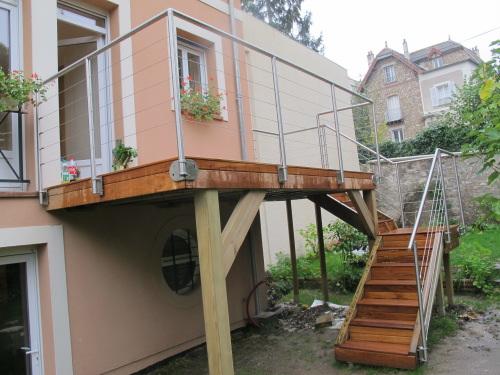 Terrasse Sur Pilotis En Teck Maison Isolation Par Exterieur