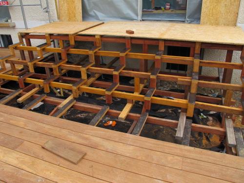 mise en oeuvre terrasse en bois. Black Bedroom Furniture Sets. Home Design Ideas