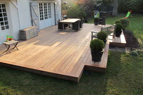 Terrasses en bois bois exemples de r alisations for Photos de terrasse