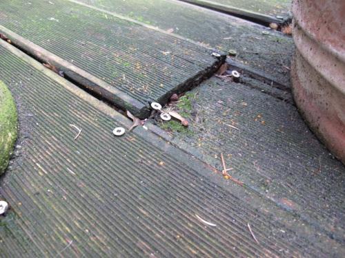Terrasse bois rat e for Piscine bois enterree pourrie