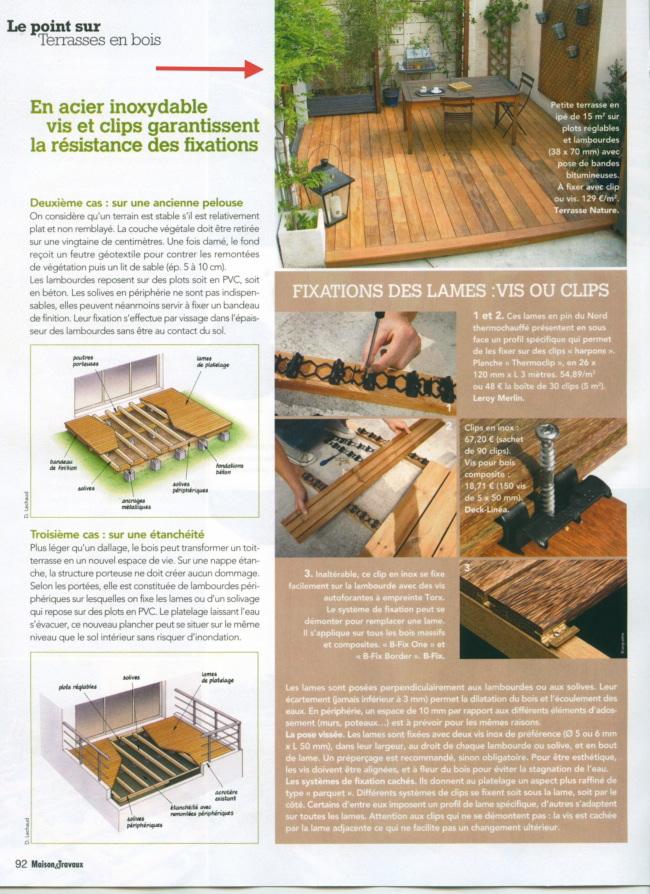 Dossier terrasse en bois du magazine maisons et travaux juin 2011 - Magazine maison et travaux ...