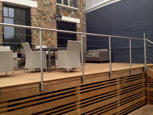garde corps inox sur terrasse en assamela. Black Bedroom Furniture Sets. Home Design Ideas