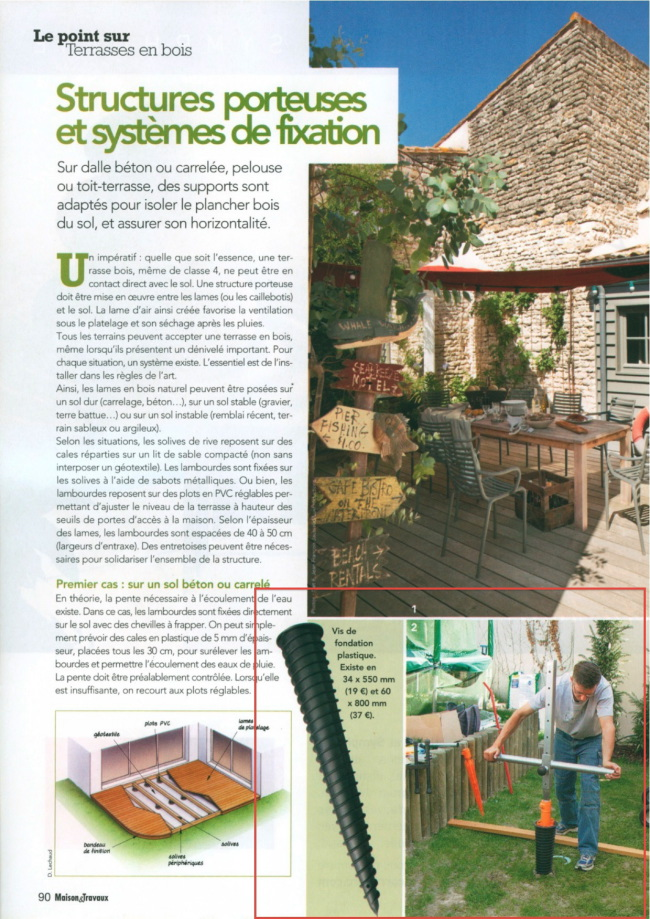 dossier terrasse en bois du magazine maisons et travaux juin 2011. Black Bedroom Furniture Sets. Home Design Ideas