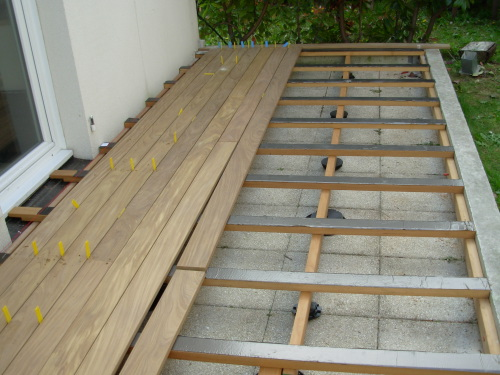 Th me double structure photos de terrasse par th mes - Pose terrasse composite sur pelouse ...