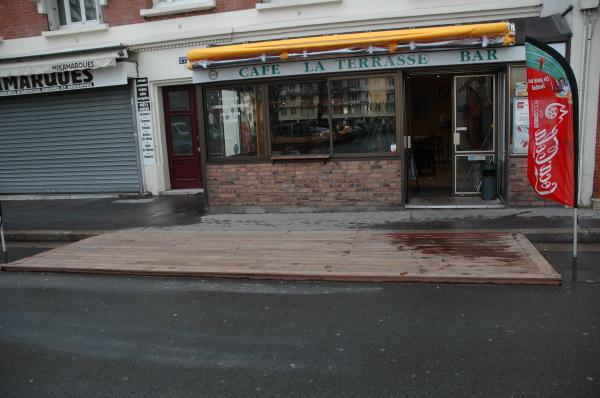 Terrasse En Bois Pour Cafe Et Restaurant