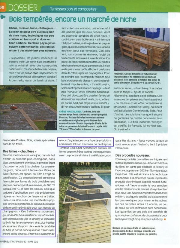 Dossier terrasse en bois du magazine mat riel et paysage for Materiel et paysage