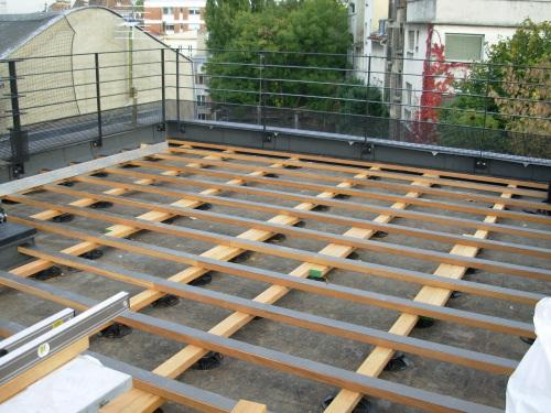 Caillebotis En Teck Pour Toit Terrasse