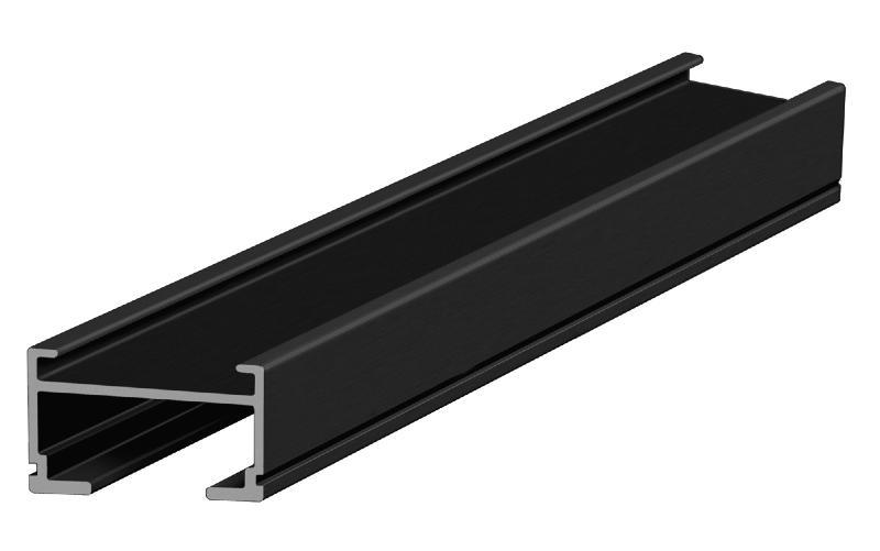lambourdes en aluminium couleur noire pour terrasses en bois. Black Bedroom Furniture Sets. Home Design Ideas