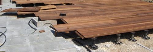 Terre Bois Sur Plots Reglables | Dalle Sur Plot Bois Idees Decoration Idees Decoration