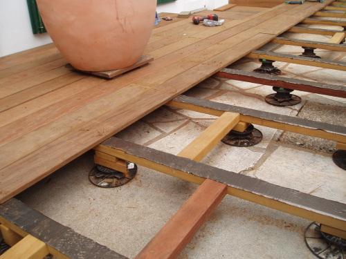 Lattes De Terrasse En Bois Exotique - Poser une terrasse bois 2
