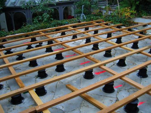 Realisation De Terrasse Et Escalier En Teck Pose Vissee