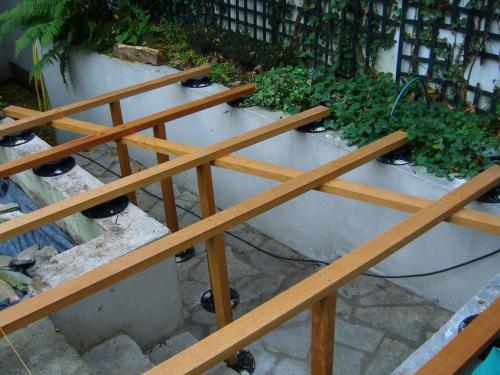 Nouvel Réalisation de terrasse et escalier en Teck, pose vissée NT-19