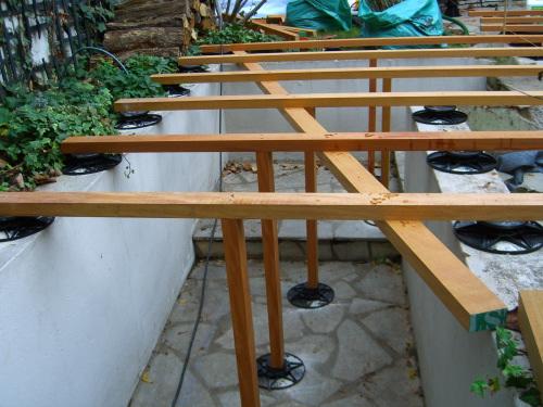 Réalisation de terrasse et escalier en Teck, pose vissée