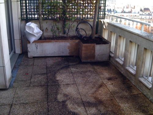 R alisation de terrasse et escalier en teck pose viss e for Etancheite dalle beton terrasse